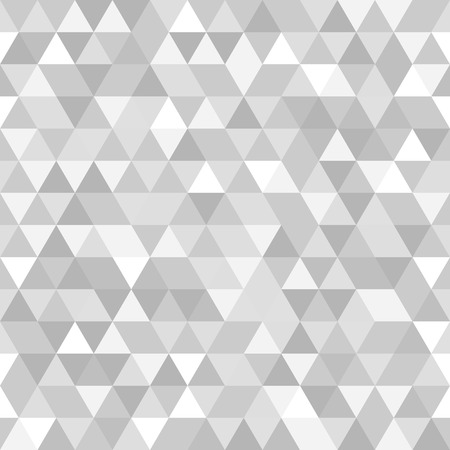Geometric vector pattern with grey and white triangles. Seamless abstract texture for wallpapers and backgrounds