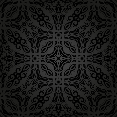 Seamless Vector Dark Background Abstract Texture For Wallpapers Stock