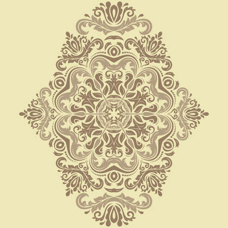 Damask seamless pattern. Fine vector classic ornament with beioriental elements Vector