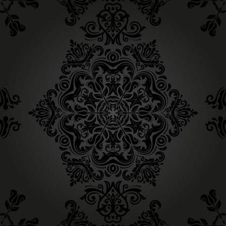 oriental vector: Oriental vector pattern with arabesque and floral elements. Abstract ornament Illustration