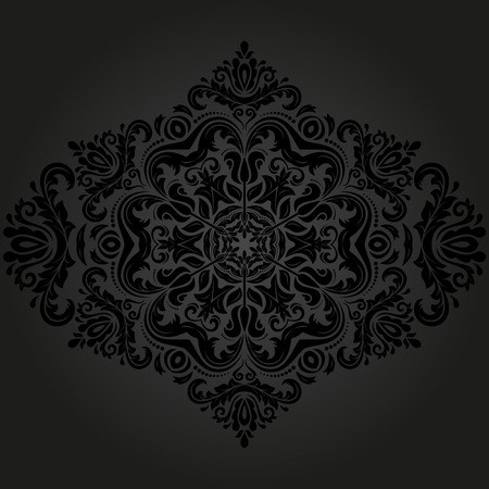 rapport: Floral vector oriental pattern with damask, arabesque and floral elements. Abstract wallpaper and background