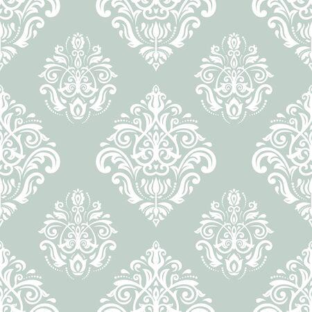 blue damask: Damask seamless floral pattern.   Stock Photo