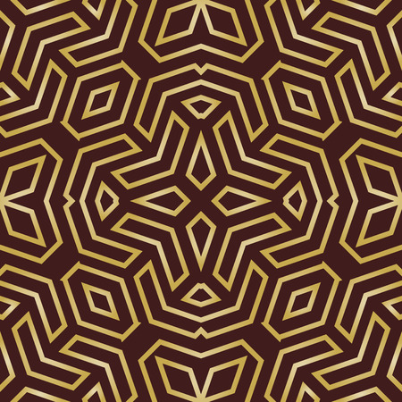 fine print: Geometric fine abstract vector pattern. Seamless modern texture for wallpapers and backgrounds. Brown and golden colors