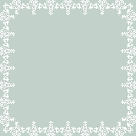 frilly: Oriental  frame with damask, arabesque and floral pattern. Abstract background