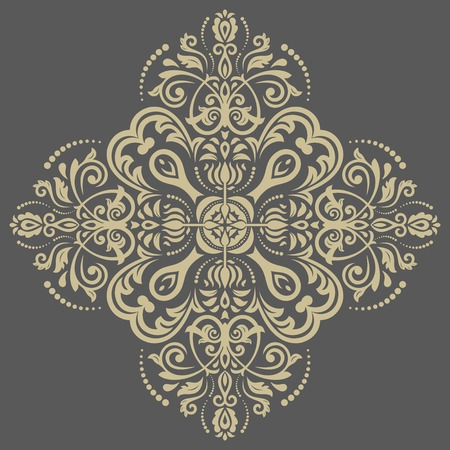 damask: Damask vector floral pattern with arabesque and oriental elements. Abstract traditional ornament for wallpapers and backgrounds Illustration