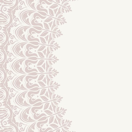 Floral  oriental pattern with arabesque and floral pink elements. Abstract ornament for background