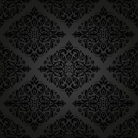 Damask seamless pattern.  traditional dark ornament with oriental elements for backgrounds Stockfoto