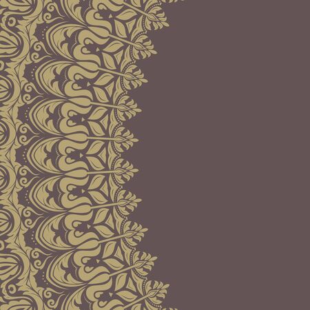 frilly: Floral  oriental pattern with damask, arabesque and floral elements. Abstract wallpaper and background
