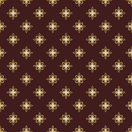Geometric pattern. Brown and golden colors Vector