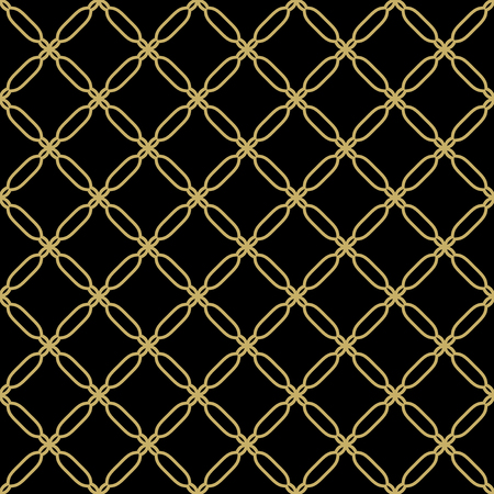 Geometric pattern. Seamless vector background. Abstract texture for wallpapers. Black and golden colors Vector