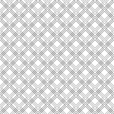 Geometric fine abstract vector pattern with black diagonal lines. Seamless modern texture for wallpapers and backgrounds Vector