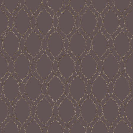 Geometric pattern. Seamless vector background. Abstract texture for wallpapers. Repeating geometric elements with vertical dotted golden waves Vector