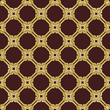 Geometric golden pattern. Seamless vector background. Abstract texture for wallpapers. Repeating geometric elements Vector