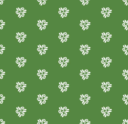 abstract wallpaper: Floral vector oriental pattern with floral elements. Seamless abstract wallpaper and background. Green and white colors