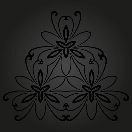 rapport: Floral  oriental pattern with floral dark elements. Seamless abstract ornament