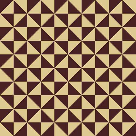 yelow: Geometric vector texture with brown and golden triangles. Seamless abstract background for wallpapers