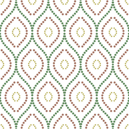 Geometric ornament. Seamless vector background. Abstract texture for wallpapers. Repeating colored vertical dotted waves Vector