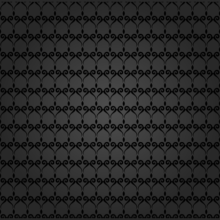 Geometric ornament. Seamless vector background. Abstract texture for wallpapers. Repeating black elements Vector