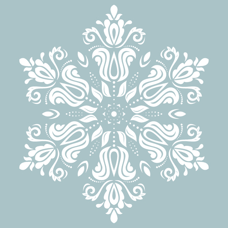 oriental vector: Oriental vector pattern with arabesque and floral elements. Traditional ornament