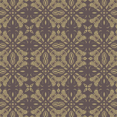 damask: Damask seamless golden pattern. Fine  traditional ornament with oriental elements