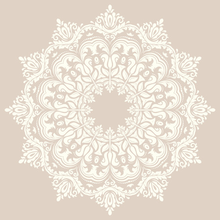 Oriental vector pattern with arabesque and floral elements. Traditional ornament