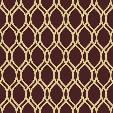 Geometric ornament. Seamless vector background. Abstract texture for wallpapers. Repeating geometric elements. Brown and golden pattern  イラスト・ベクター素材