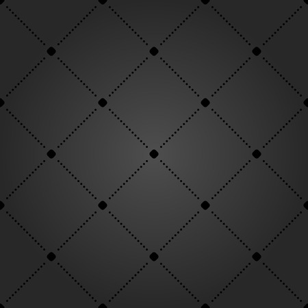 black dots: Geometric repeating vector ornament with diagonal black dots. Seamless abstract modern texture for wallpapers and background