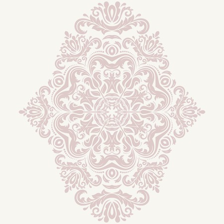 frilly: Floral  oriental pattern with arabesque and floral elements. Abstract pink ornament for background