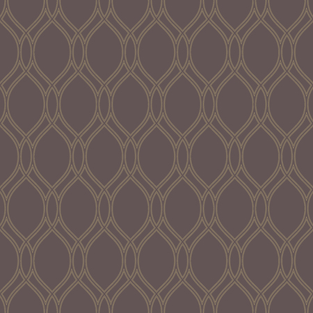 Geometric ornament. Seamless vector background. Abstract texture with vertical waves for wallpapers. Repeating geometric elements. Brown and golden pattern Vector