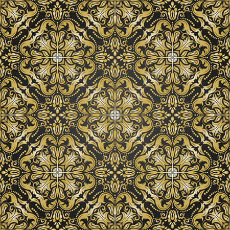 golden texture: Ornamento geometrico. Vector background senza soluzione di continuit�. Abstract texture nero e dorato con sottili elementi geometrici