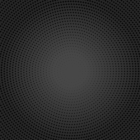 Geometric modern  pattern. Round texture with black dotted elements