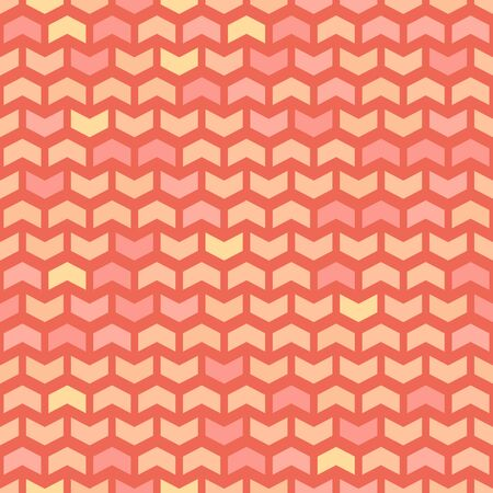 Geometric  pattern with red and golden triangles. Seamless abstract texture for wallpapers and background