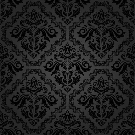 Oriental vector fine classic dark texture. Seamless abstract background