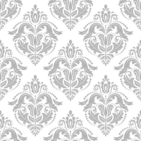oriental vector: Oriental vector fine classic silver pattern. Seamless abstract bright background