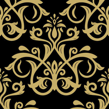 fine: Oriental vector fine classic pattern. Seamless abstract background Illustration