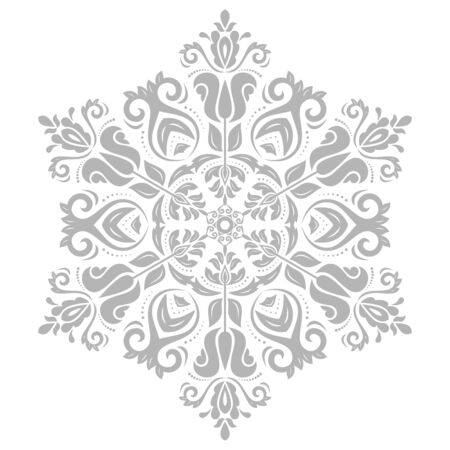 laced: Damask floral pattern with oriental gray elements.