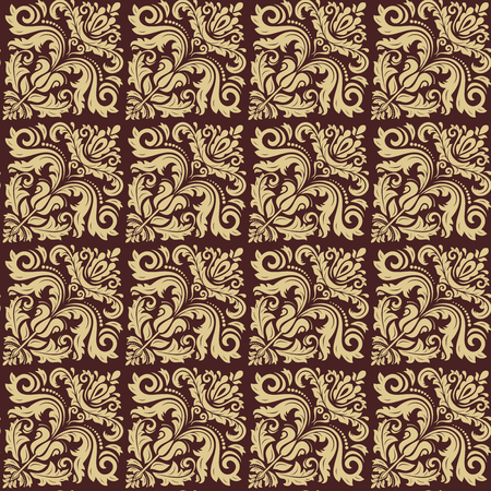 fine: Oriental fine classic pattern with brown and golden colors.