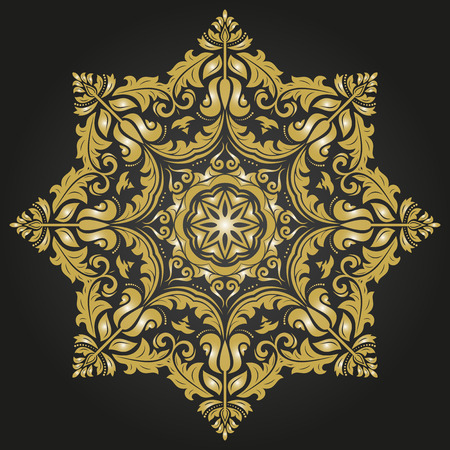 damask seamless: Damask seamless ornament.