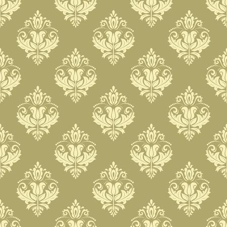 fine: Oriental fine classic golden pattern. Seamless fine texture Illustration