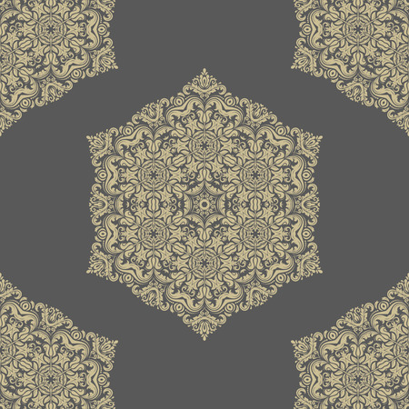 oriental vector: Oriental vector fine classic golden pattern. Seamless abstract background