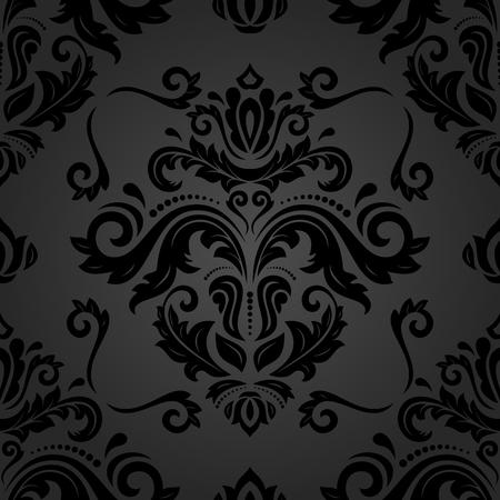 oriental vector: Oriental vector fine dark pattern. Seamless abstract background
