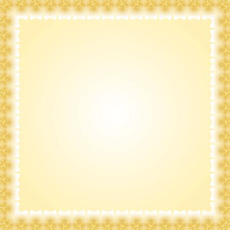 Oriental abstract frame with arabesque and floral golden elements