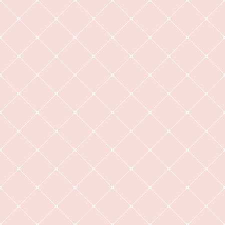 Geometric vector ornament with triangles. Seamless abstract pink pattern with white dots for wallpapers and backgrounds