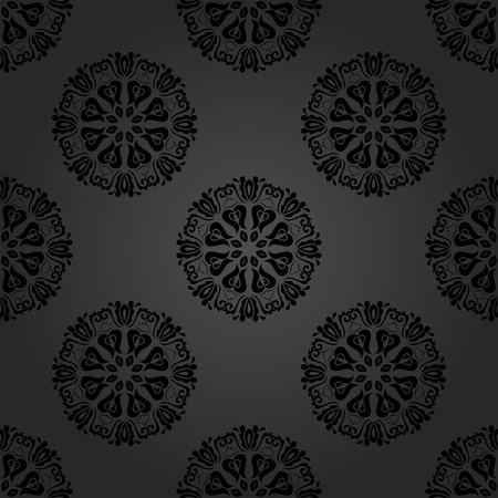 oriental vector: Oriental vector fine classic pattern. Seamless abstract dark background