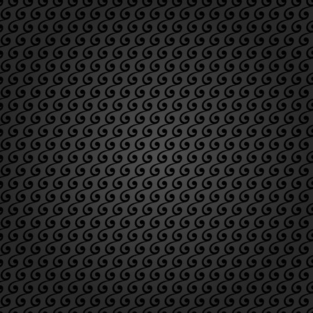 abstract art background: Pattern with seamless vector ornament. Modern stylish geometric background with repeating black waves