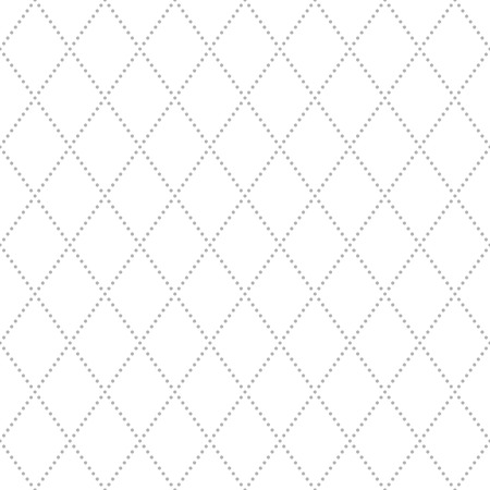 Geometric repeating vector ornament with gray diagonal dots. Seamless abstract modern pattern for wallpapers and backgrounds