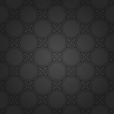 dark backgrounds: Geometric  texture with oriental elements. Seamless black grill for wallpapers and background