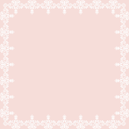 frilly: Oriental vector abstract frame with arabesques and floral elements