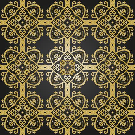 oriental vector: Oriental vector classic colored pattern Illustration
