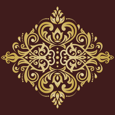 oriental vector: Oriental vector pattern with arabesques and floral elements